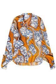 Rosie Assoulin - Printed silk-blend crepe de chine shirt at Net A Porter