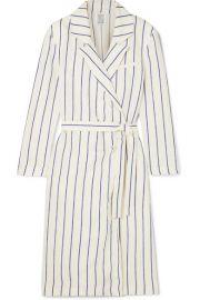 Rosie Assoulin   Striped linen wrap dress at Net A Porter