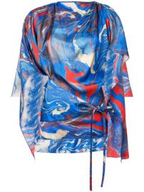 Rosie Assoulin Marble Printed Cape at Farfetch