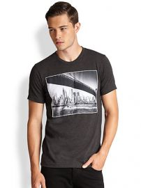 Rosser Riddle - Brooklyn Bridge Cotton Tee at Saks Fifth Avenue
