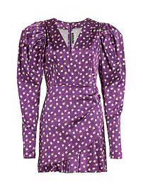 Rotate Birger Christensen - Aiken Floral Puff Sleeve Mini Dress at Saks Fifth Avenue