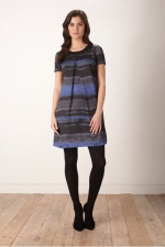 Rothko Stripe Digi Print Dress at Great Plains