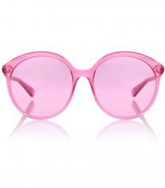 Round acetate sunglasses at Mytheresa