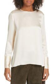 Round neck silk blouse at Nordstrom