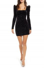 Row A Velvet Square Neck Minidress   Nordstrom at Nordstrom