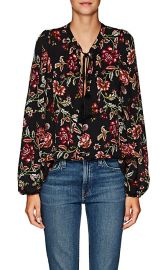 Royan Floral Silk Top at Barneys