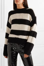 RtA - Griffith oversized striped cotton-blend sweater at Net A Porter