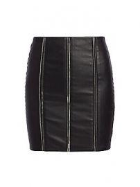 RtA - Amelie Zipper Leather Mini Skirt at Saks Fifth Avenue