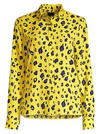 RtA - Blythe Leopard Print Button Down at Saks Fifth Avenue