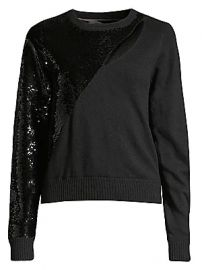RtA - Teagan Cutout Sequin Sweater at Saks Fifth Avenue
