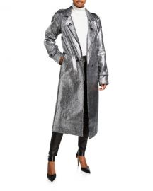 RtA Andi Metallic Tweed Long Coat at Neiman Marcus