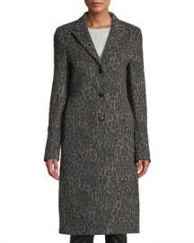 RtA Jamson Leopard-Print Wool Long Coat at Neiman Marcus