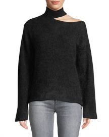 RtA Langley Cutout Turtleneck Mohair-Wool Sweater at Neiman Marcus