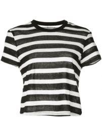RtA Striped T-shirt - Farfetch at Farfetch