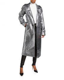 RtAAndi Metallic Tweed Long Coat at Neiman Marcus