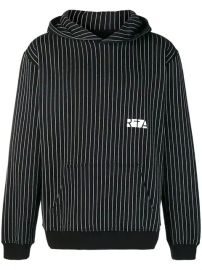 Rta Vertical Stripe Hoodie - Farfetch at Farfetch
