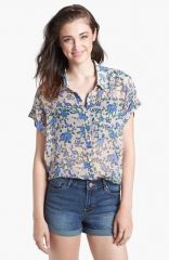 Rubbishand174 Floral Print Shirt in blue at Nordstrom