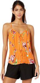 Rubina Sleeveless Tie Front Ruffle Top at Amazon