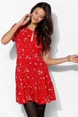 Ruby Keyhole Fit Flare Dress at Urban Outfitters