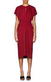 Ruched Crepe Midi-Dress at Barneys
