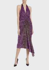 Ruched Degrade Sequin Dress at Bergdorf Goodman