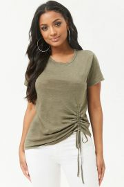 Ruched Drawstring Tee Forever 21 at Forever 21