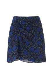 Ruched Floral Skirt at Rent the Runway