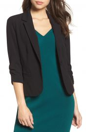 Ruched Sleeve Blazer at Nordstrom