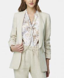 Ruched-Sleeve Shawl-Lapel Jacket at Macys