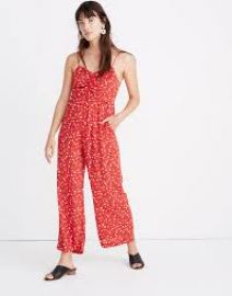 Ruched Wide-Leg Jumpsuit in Prairie Posies at Madewell