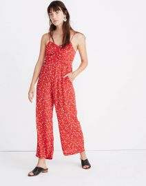 Ruched Wide-Leg Jumpsuit in Prairie Posies by Madewell at Madewell