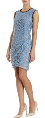Ruched netted lace dress by Sea at Barneys