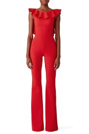 Ruffle Back Jumpsuit at Rent The Runway