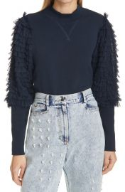 Ruffle Bishop Sleeve Sweatshirt at Nordstrom