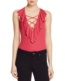 Ruffle Bodysuit by Guess at Bloomingdales