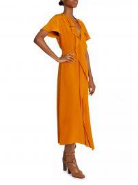 Ruffle Chain Silk Midi Dress at Saks Fifth Avenue