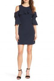 Ruffle Cold Shoulder Shift Dress by Eliza J at Nordstrom Rack