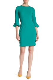 Ruffle Cuff Sheath Dress by Donna Morgan at Nordstrom Rack