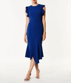 Ruffle Detail Dress at Karen Millen