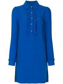 Ruffle Front Shirt Dress by MICHAEL Michael Kors at Farfetch