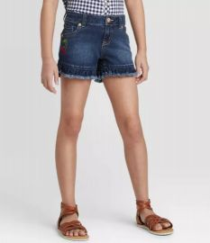 Ruffle Hem Sequin Cherry Jean Shorts by Cat  Jack at Target