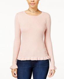 Ruffle-Hem Sweater at Macys