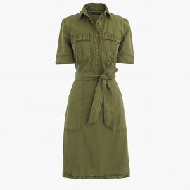 Ruffle Hem Utility Dress at J. Crew