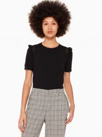 Ruffle Short Sleeve Sweater at Kate Spade