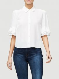Ruffle Sleeve Top at Frame