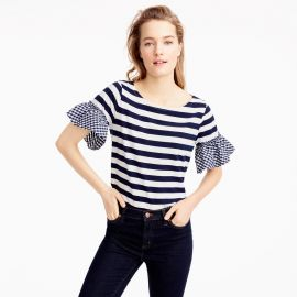 Ruffle-Sleeve Top at J. Crew