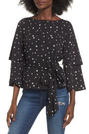 Ruffle Sleeve Top by JOA at Nordstrom Rack