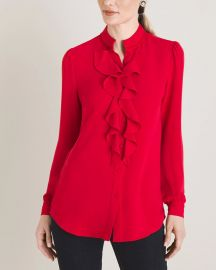 Ruffle front blouse at Chicos