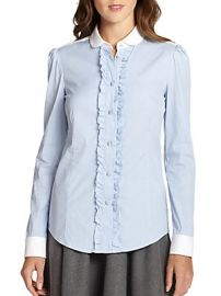Ruffle front blouse by RED Valentino at Saks Off 5th