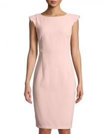 Ruffled Cap-Sleeve Sheath Dress at Last Call